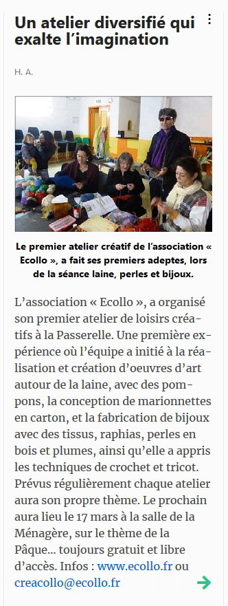 article Var Matin créacollo