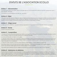 les statuts de l'association...